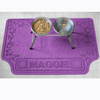 Drool Hog Scroll Personalized Pet Food Mat