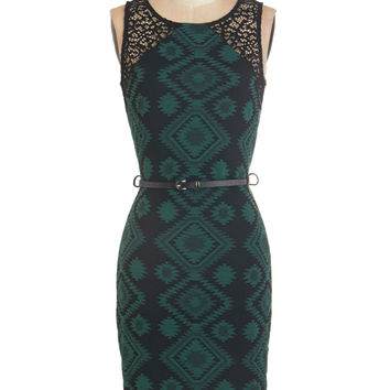 ModCloth Sleeveless Sheath Lavish Lounge Dress