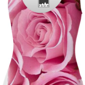 Pink Roses Swimsuit created by ErikaKaisersot   Print All Over Me