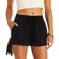 SASH-BELTED HIGH-WAISTED SHORTS