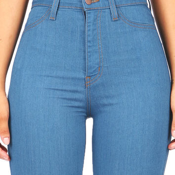 Throwback High Waist Skinnys  Trendy Jeans at Pinkice.com