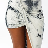 Tie-Dye Draped Skirt