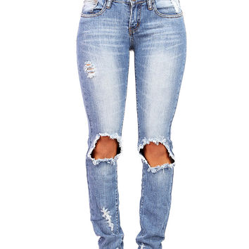 Blow Out Straight Jeans |Trendy Jeans at Pink Ice