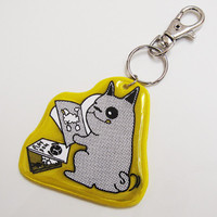 MollaSpace - While You Weren't Home Reflector Keychain