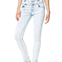 Skylar High-Rise Skinny Jeans in Sateen Snow Storm