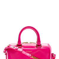 Saint Laurent Fuchsia Leather Toy Duffle Bag