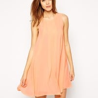 BCBGeneration Dress with Pleat Detail and High Neck