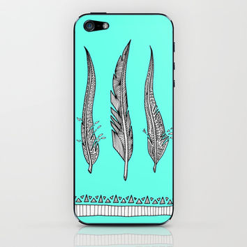 Feathers iPhone & iPod Skin by Ornaart