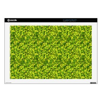 Glitter Lemon Lime Vinyl Laptop Skin