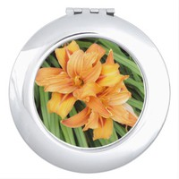 Orange Daylilies Compact Mirror