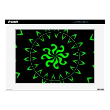 Crazy Hearts Neon Laptop Skin