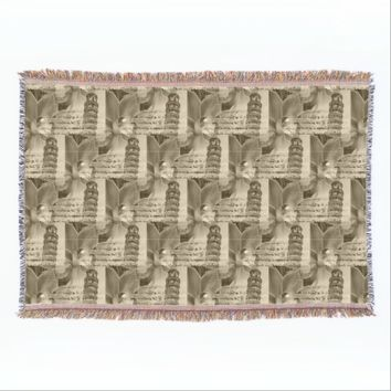 Pisa Orchid Italian Sepia Throw Blanket