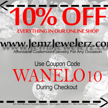 TAKE 10% OFF Your Purchase of 20 USD or More