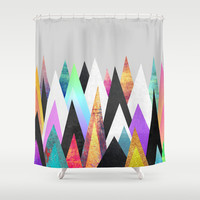 Peaks Shower Curtain by Elisabeth Fredriksson