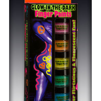 Glow in the Dark Finger Paint Set