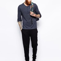 ASOS Long Sleeve Grandad With Roll Sleeve And Tab at asos.com
