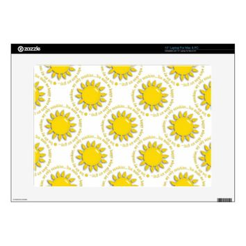 You Are My Sunshine Laptop Skin