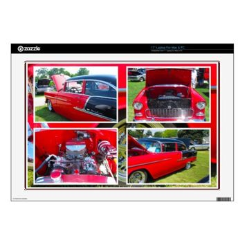 1955 Chevrolet Sedan Collage Laptop Skin