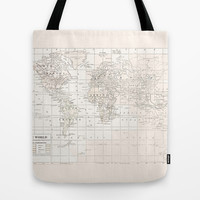 Vintage Cream and White Tote Bag by Catherine Holcombe | Society6