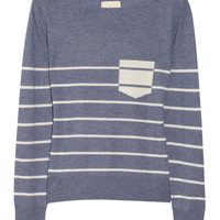 Band of Outsiders Striped silk and cashmere-blend sweater – 60% at THE OUTNET.COM