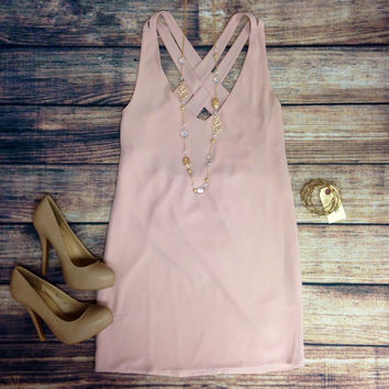 BEYOND YOUR DREAMS DRESS - BLUSH