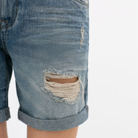 DENIM BOYFRIEND BERMUDAS