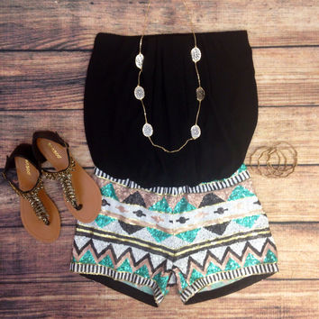 SOUTHWEST GYPSY SEQUIN ROMPER