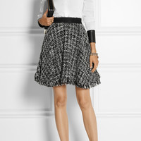 MSGM | Frayed bouclé-tweed skirt | NET-A-PORTER.COM