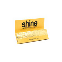 24K Gold Rolling Papers by Shine Papers - Regular Size - Single Pack