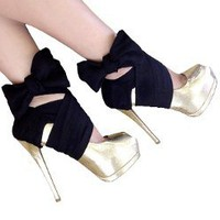 Heel Accessory-Black Chiffon