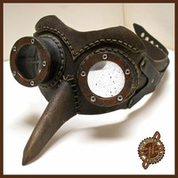 Skeeter Air Pirate Mechanic steampunk costume prop goggles | GeahkBurchill - Clothing on ArtFire