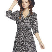 Printed Shirt Dress | Wet Seal