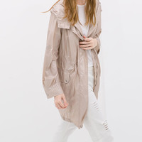 PEARLISED HOODED PARKA