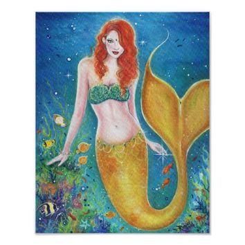 Magical sea mermaid fantasy poster By Renee