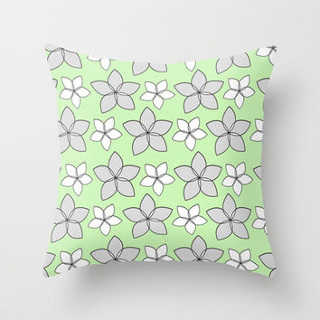 Plumeria Love Throw Pillow by tzaei | Society6