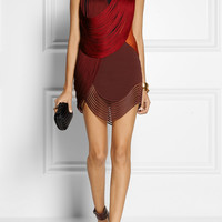 Stella McCartney - Fringed stretch-cady mini dress