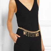 Moschino | Gold-plated chain-link waist belt | NET-A-PORTER.COM
