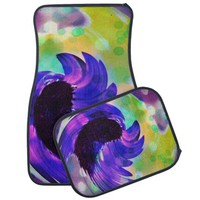 Purple Sunflower Swirl Car Mats