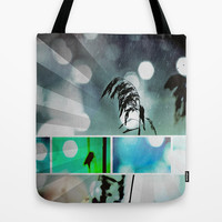 Silver Grass Postcard Art Tote Bag by minx267