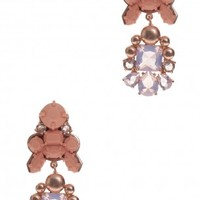 Boutique 1 - EK THONGPRASERT - Pink Jete Entrelace Earrings | Boutique1.com