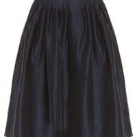 Boutique 1 - MARTIN GRANT - Navy Pleated Bell Skirt | Boutique1.com