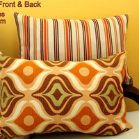 Multi colored lumbar 12x18 pillow cover – Chair sofa décor