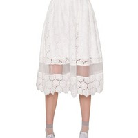 Jourdan Lace Midi Skirt