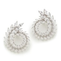 Circular Double Row Earrings