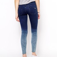 MIH Jeans High Waisted Skinny Jeans With Dip Dye