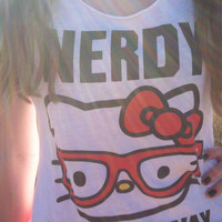 Hello Kitty Nerdy Tank by SomethingLikeFashion on Etsy