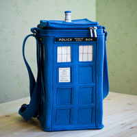 Blue Felt TARDIS Bag TARDIS purse by krukrustudio on Etsy
