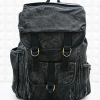 BDG Washed Buckle Backpack in Black - Urban Outfitters