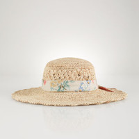 Crocheted Straw Hat