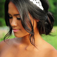 Take A Dirt Road Headband: Ivory